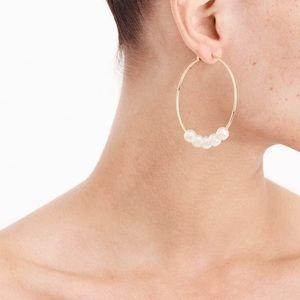J.Crew (NWT) Pearl Hoop earring